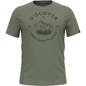 Odlo Nikko Print T-Shirt S / S Crew Neck Herrer, oliven